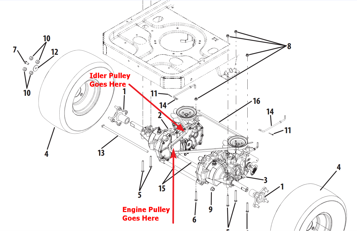 Cub Cadet Zero Turn Drive Belt Diagram