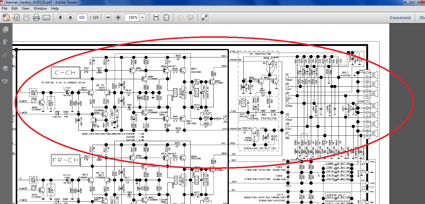 AVR 130 - R 901 & 902 are open  What is cause?