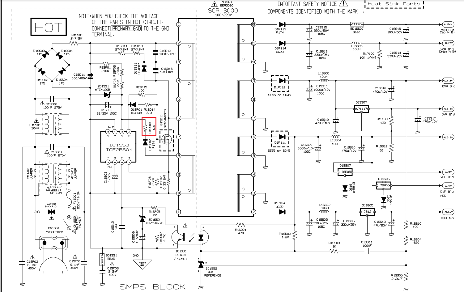 cctv dvr circuit diagram