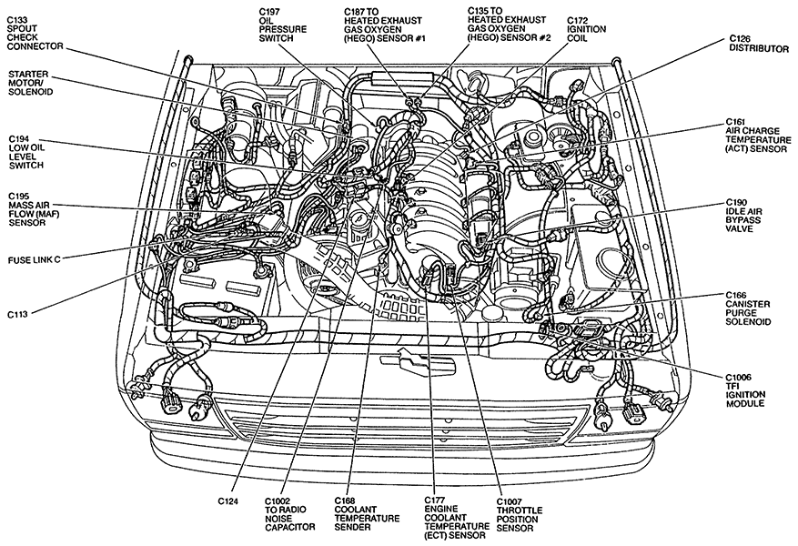 1992 ford ranger sensor diagram  ford  auto parts catalog and diagram
