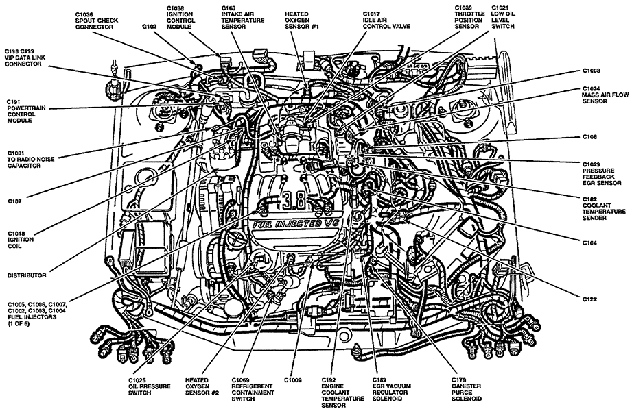 2004 ford taurus starter diagram   32 wiring diagram