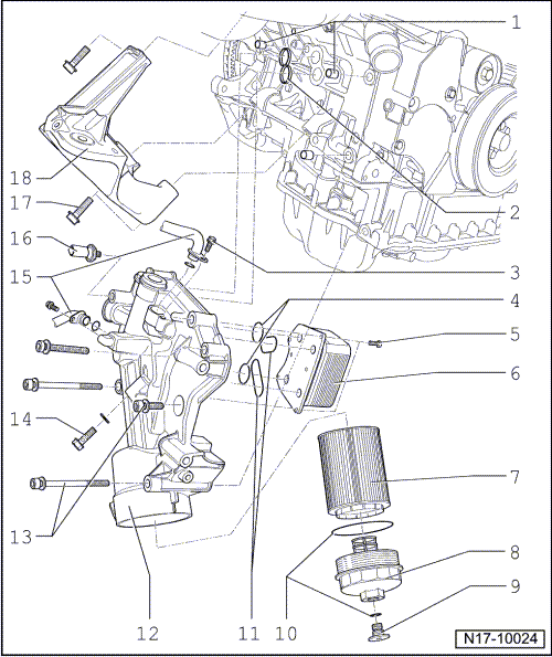 What Is The Location Of The Oil Pressure Switch On A 2006 Volkswagen