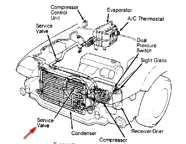 2003 Honda Accord Air Conditioning Diagram
