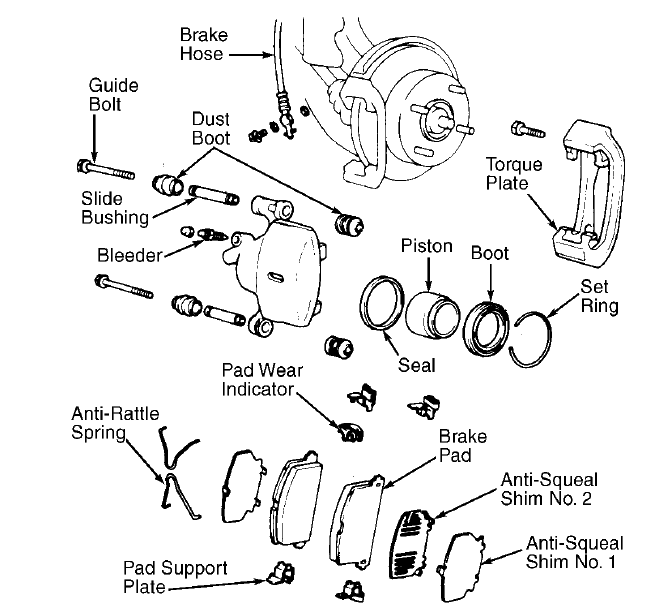 I Am Replacing Brake Pads And Rotors 97 Toyota Camry 4 Cyl I Want