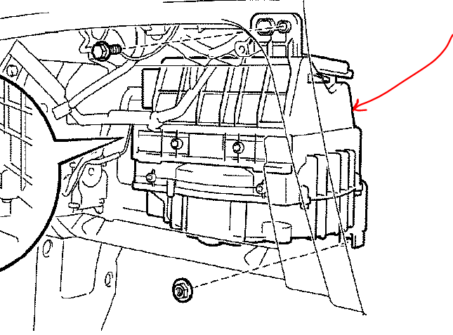 Where Is The Blower Motor Resistor Located For A 2003 Toyota Highlander