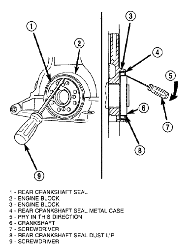 How do I replace the rear main seal on a chrysler sebring