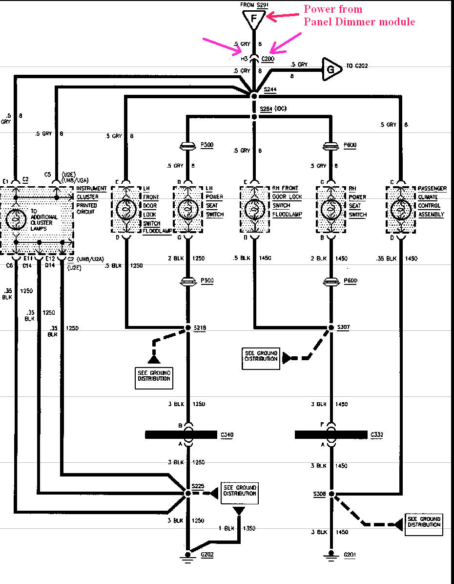 the heater ac fan stopped working along with the button that turns1992 Oldsmobile 88 Royale Wiring Diagram #17