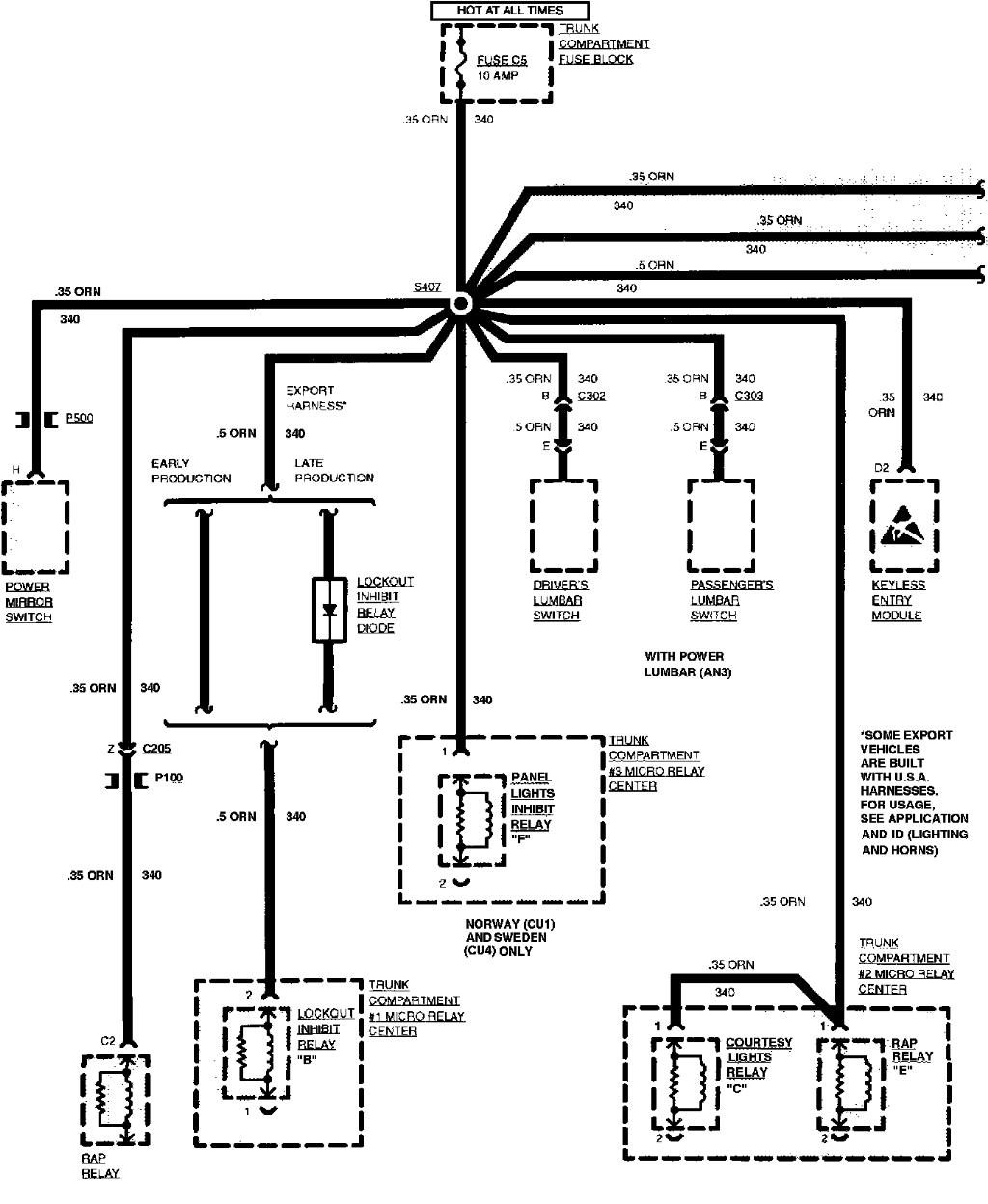 98 cadillac eldorado wiring diagrams  cadillac  auto