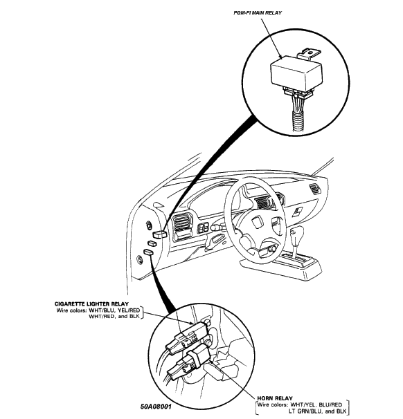 1997 Honda Accord Horn Wiring Harness Diagram