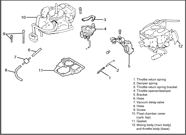 1988 dodge ram 50 carburetor diagram