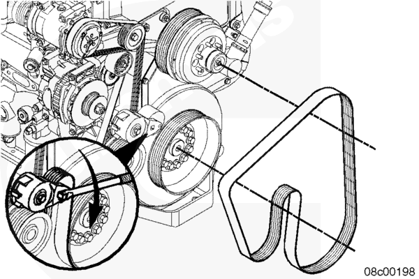 Where Would I Find A Fan Belt Diagram For A 2010 T