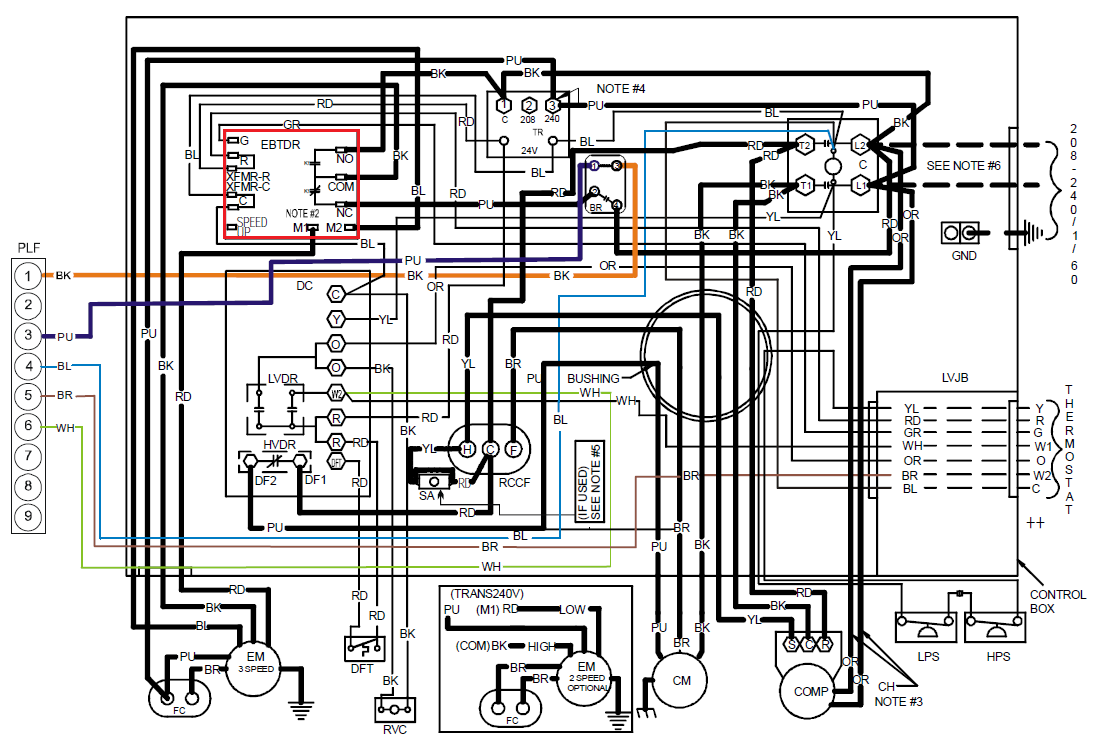 Package Unit Diagram Great Design Of Wiring Ac Pcbfm103s 24 Images Trane