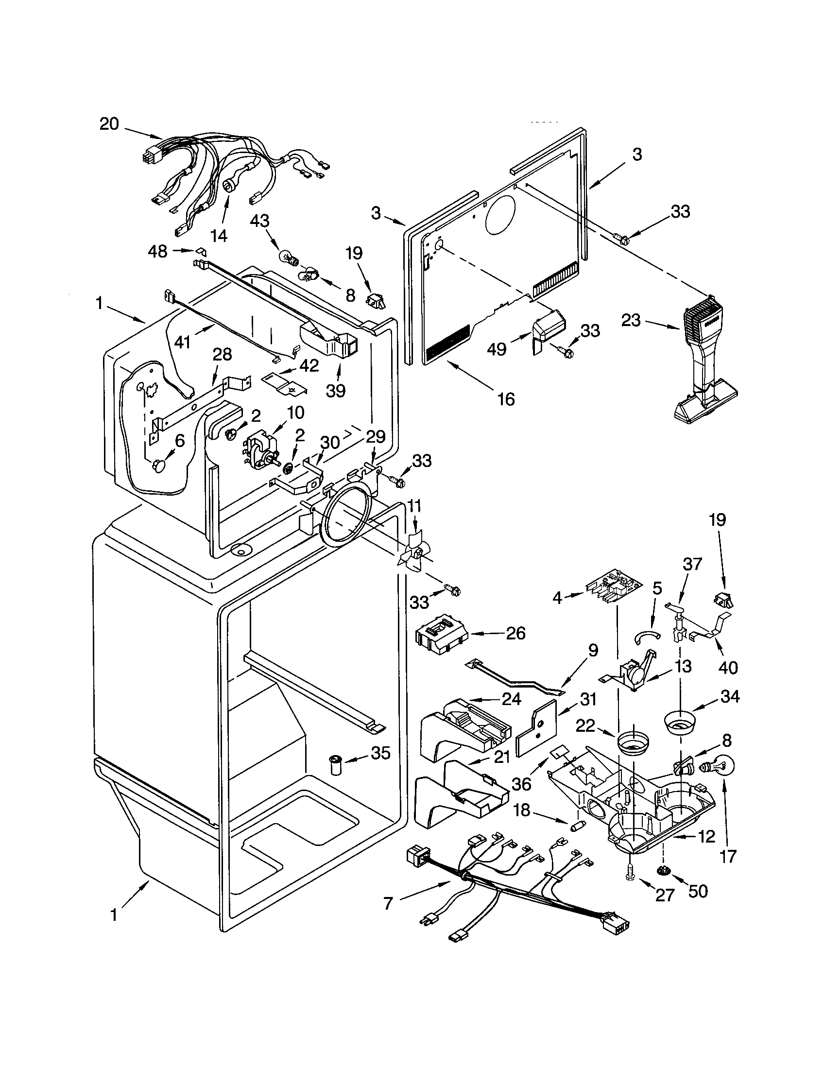 kenmore refrigerator schematic diagram kenmore model 106.63182302 is dripping from the freezer ... #11