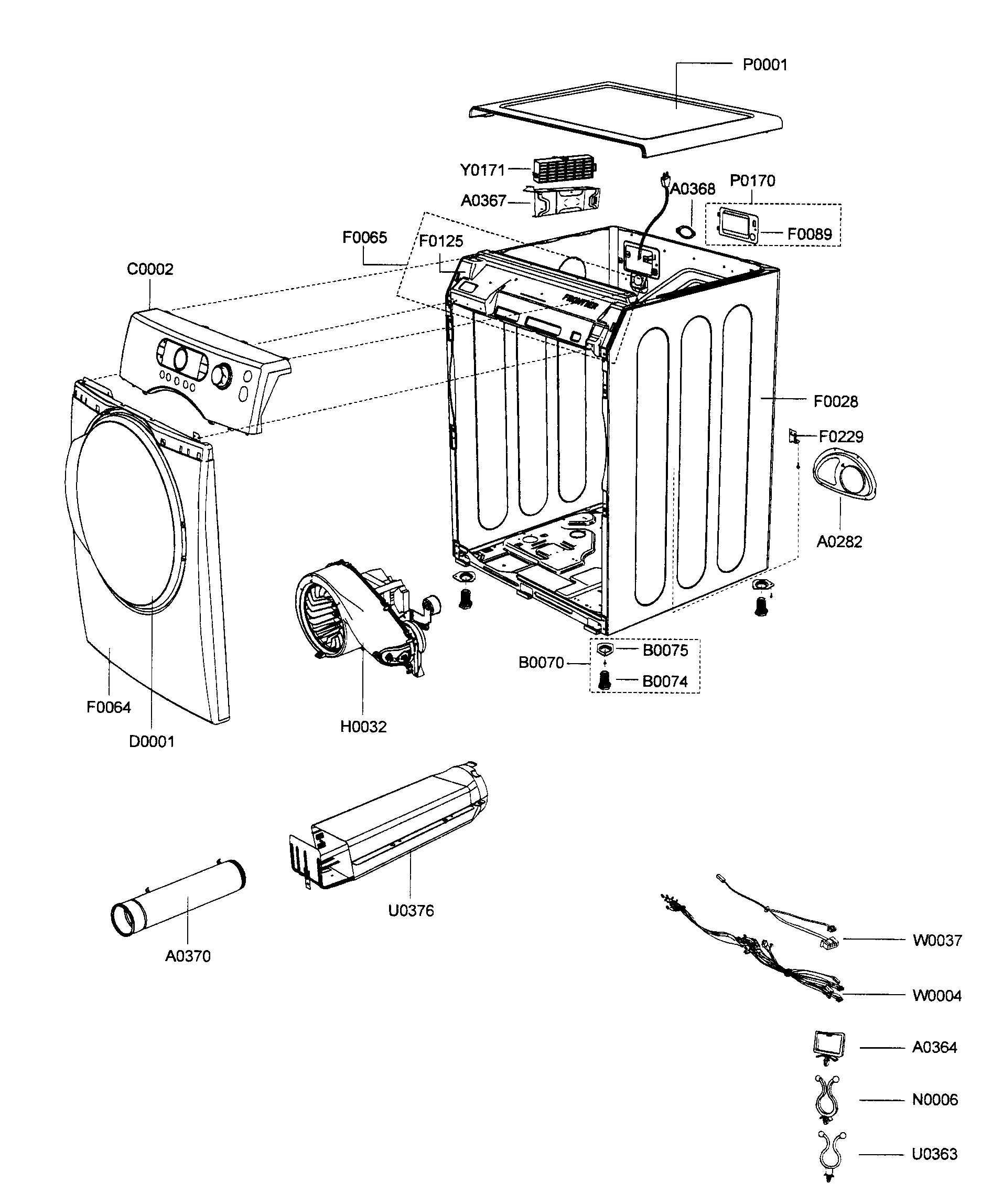 samsung dryer heater diagram