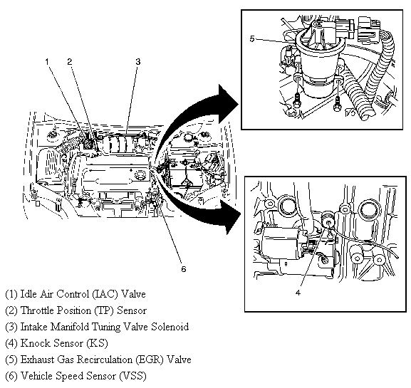 where is the throttle position sensor for a 06 chevy aveo