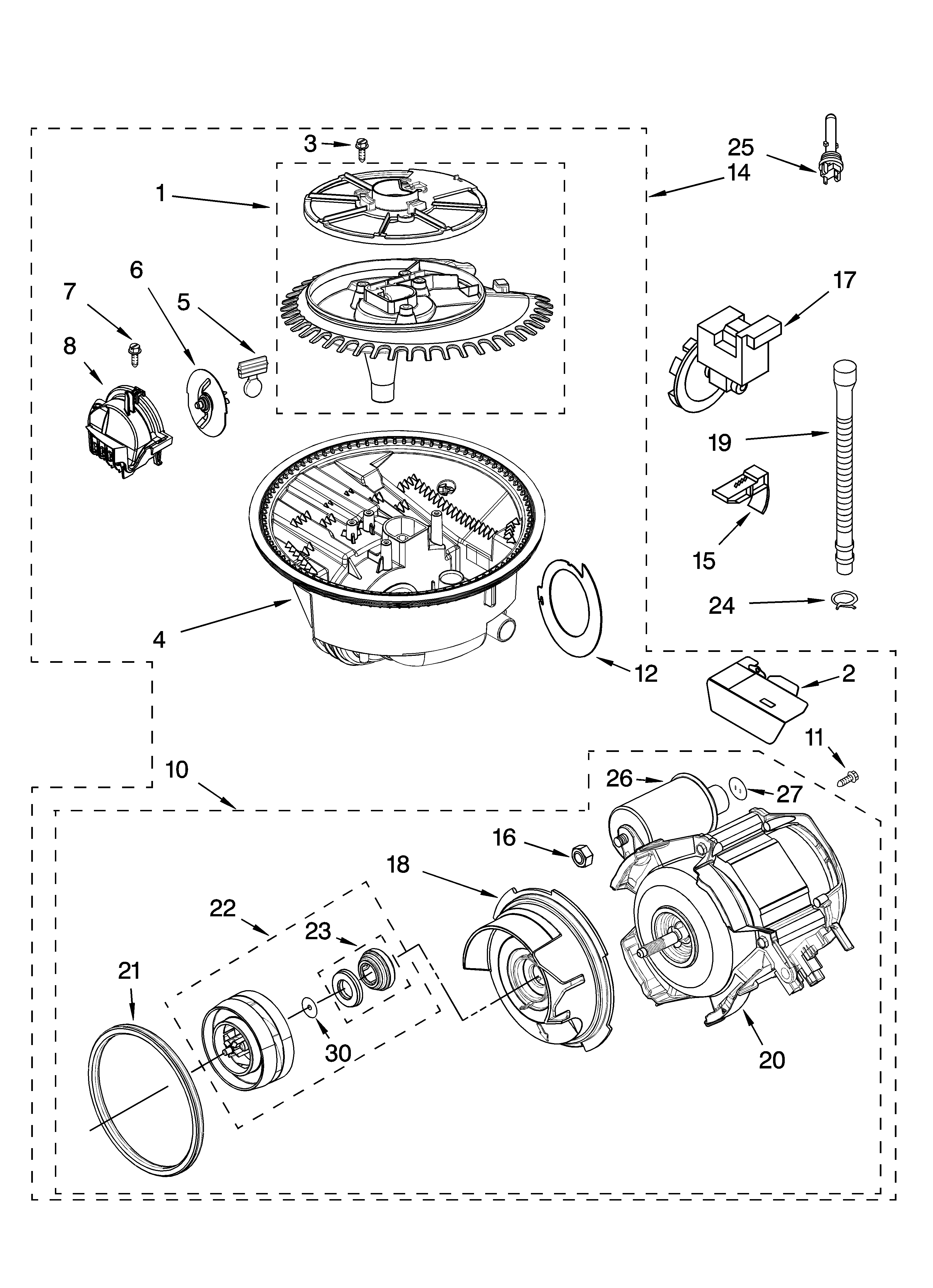 K on Kenmore Ultra Wash Dishwasher Parts Diagram