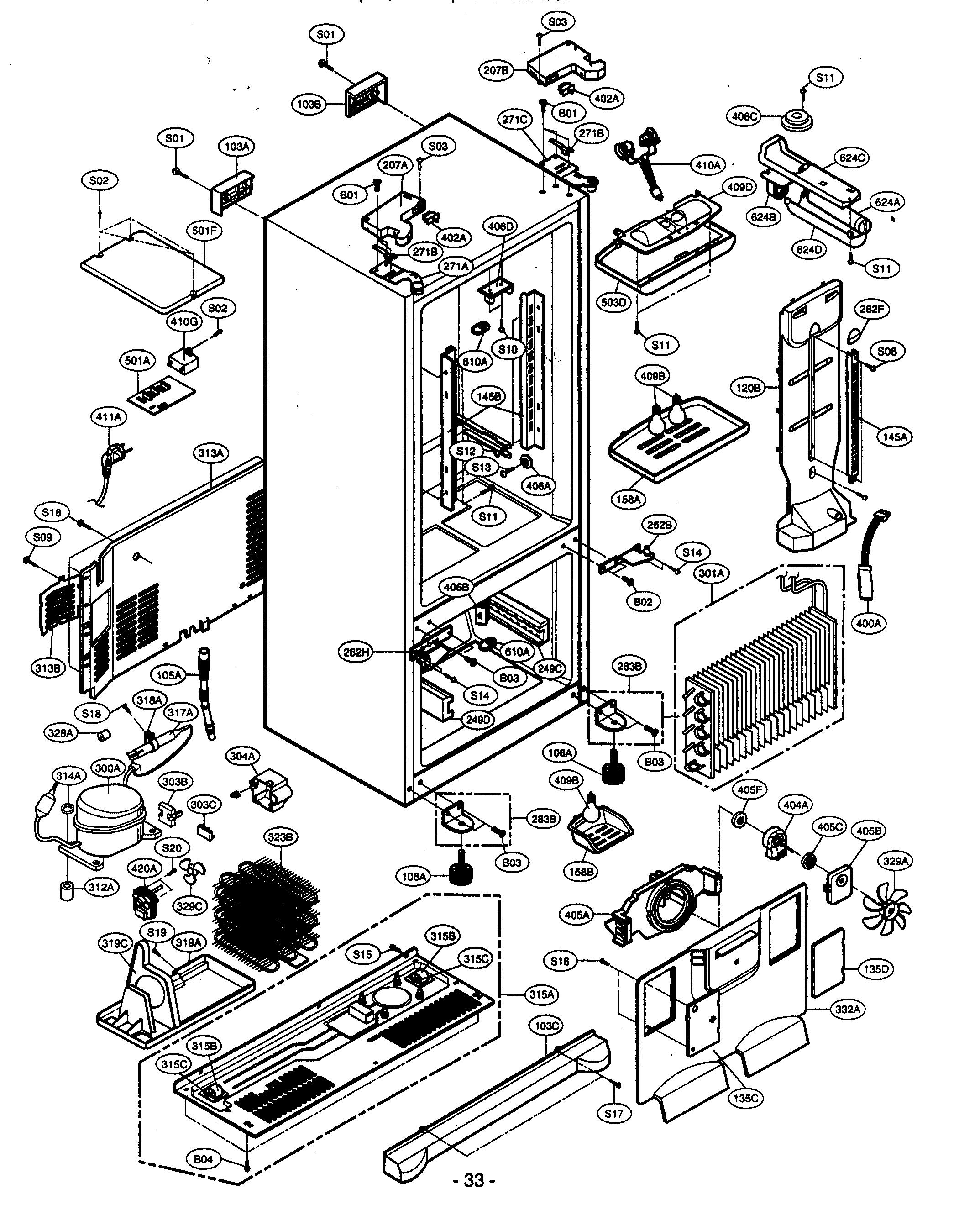 Kenmore Freezer Parts Diagram Modern Design Of Wiring Upright Sears Refrigerator Model 106 Microwave