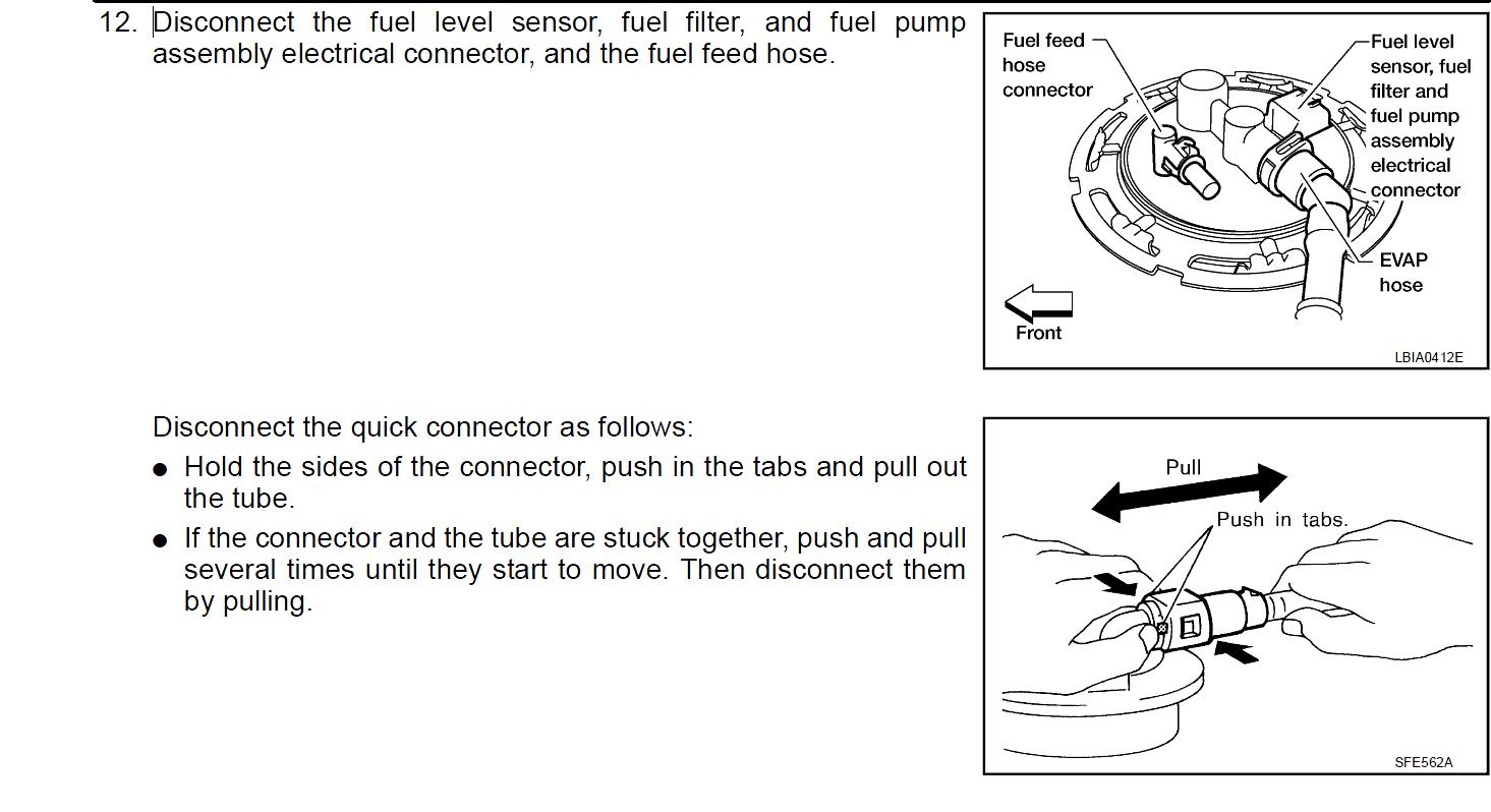 2005 nissan pathfinder fuel level sensor recall