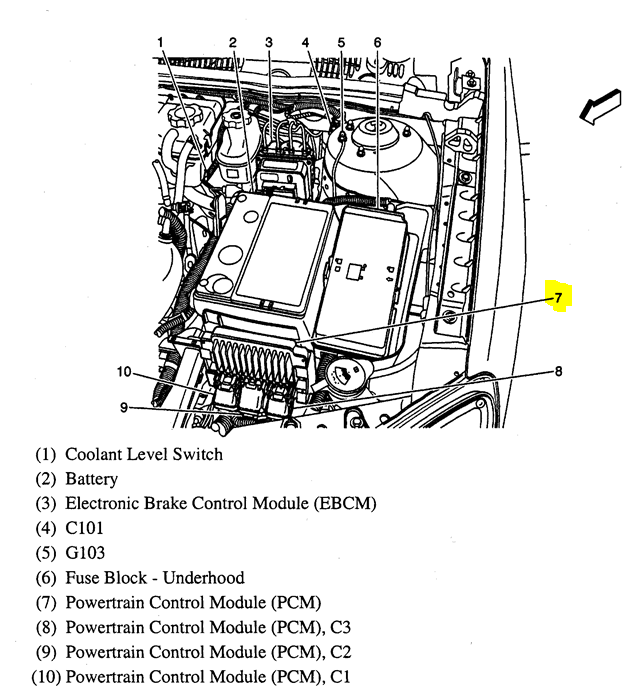 39mn3 Pcm Located 2006 Malibu 2 2l on 2006 chevy trailblazer wiring diagram