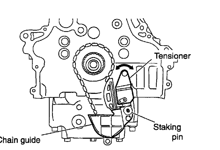 remove tensioner on a timing cover 2003 nissan 350z