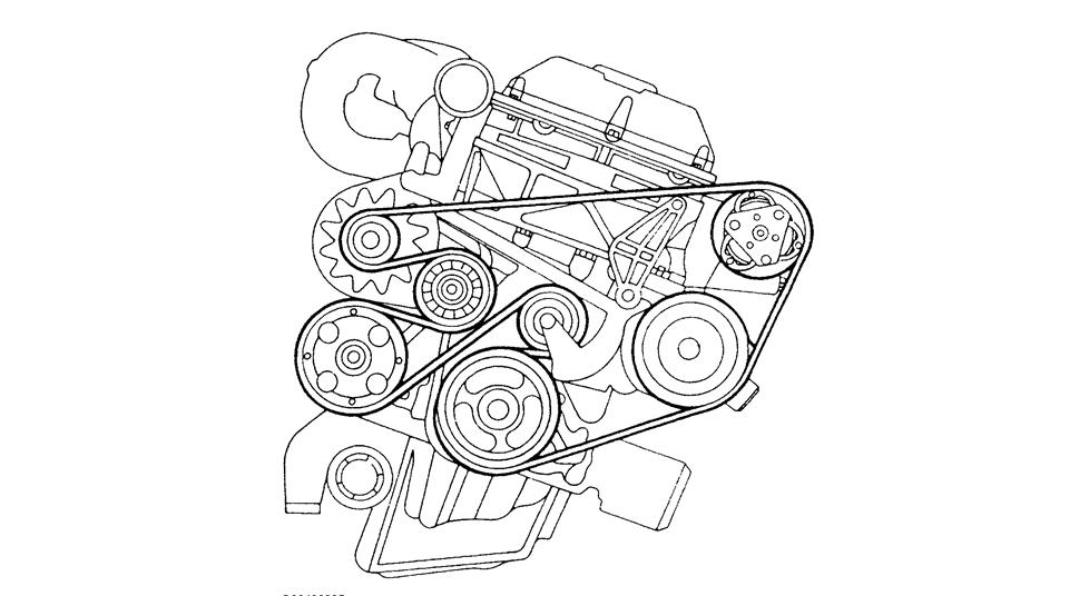 Diagram Serpintine Belt For A 1997 Saab Se