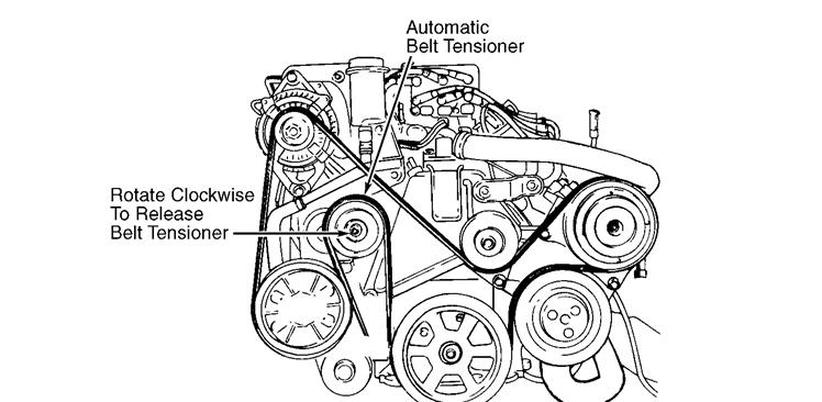 1998 Dodge Caravan Belt Diagram