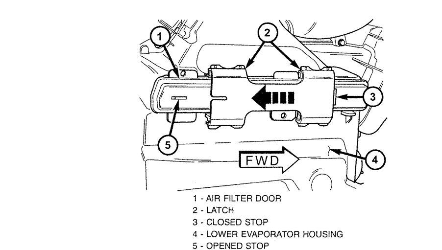 how to install cabin filter on 2000 chrysler voyager