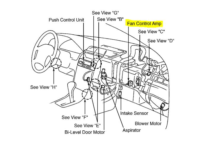 In My 95 Nissan Maxima  Air Automatically Blows Through