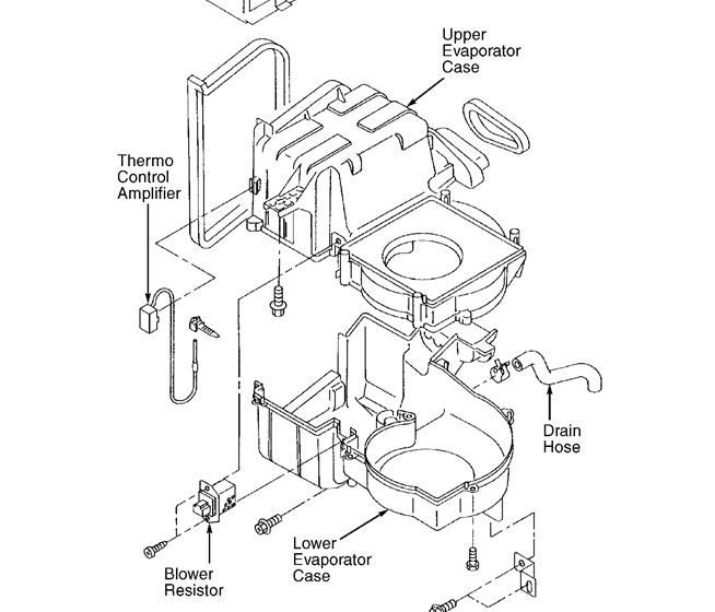 subaru blower motor resistor location