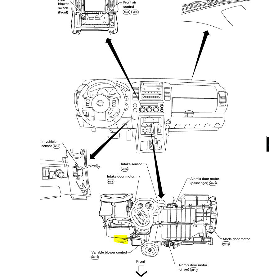 I Have A 2005 Pathfinder In Which The Blower Motor Has Decided To Rhjustanswer: 2007 Nissan Pathfinder Blower Motor Location At Gmaili.net
