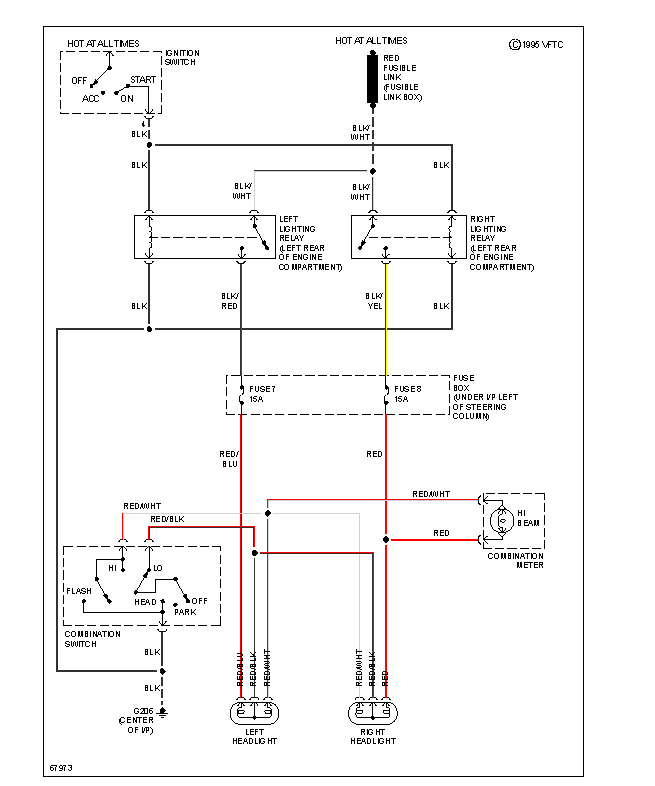 I need a    wiring    schematic for the park    headlight    circuits on a 1991    subaru    loyale wagon 4wd