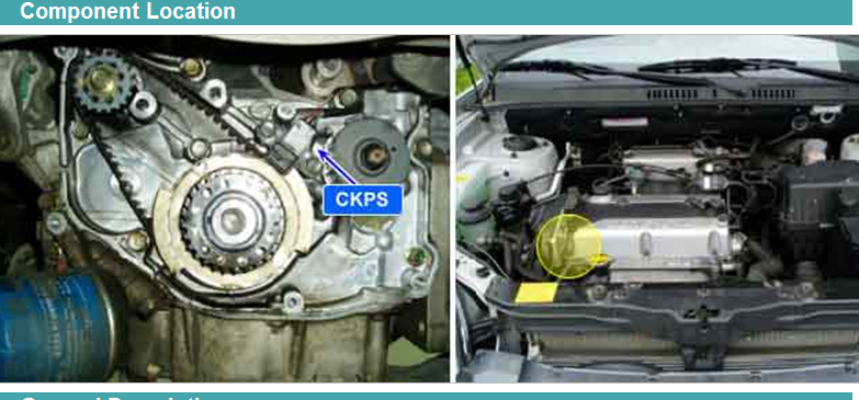 On A Kia Optima 05  Lx  2 4 Engine  Where Is The Crank Sensor Located And Is It Difficult To