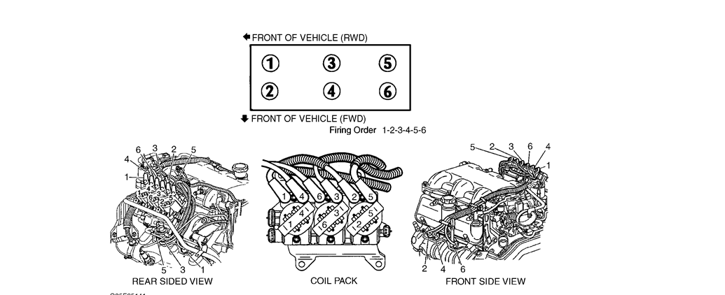 can you show me the diagram to replace the spark plug wires
