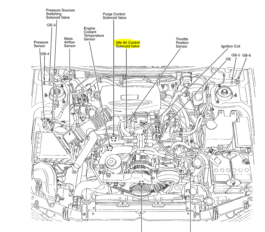 2012 subaru outback engine diagram