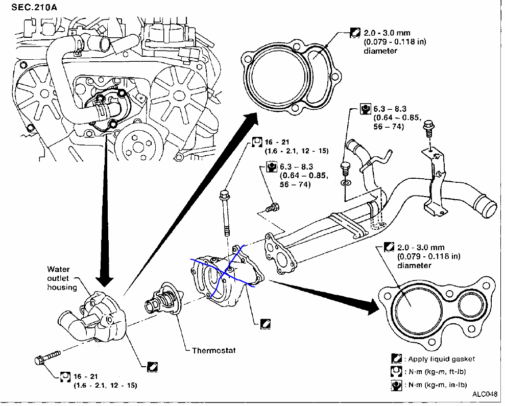Nissan       Altima       Thermostat       Housing       Diagram      Wiring    Diagram