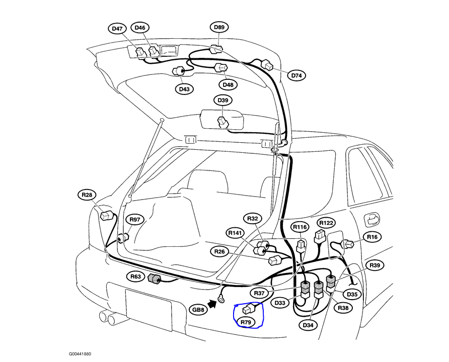 Subaru Trailer Wiring Harness