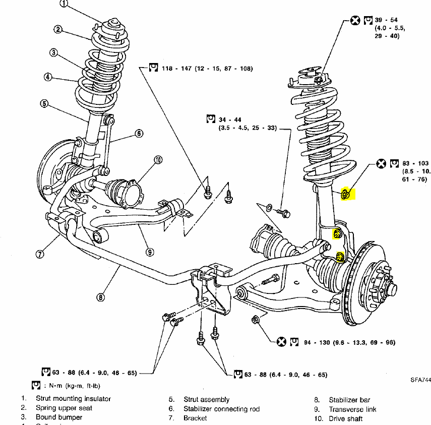 service manual  2001 infiniti q removing from a struts