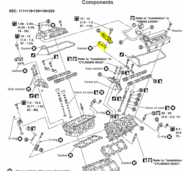 2002 Maxima Has Po011 Error Code,Camshaft Position