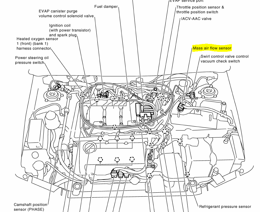 2004 nissan maxima exhaust diagram