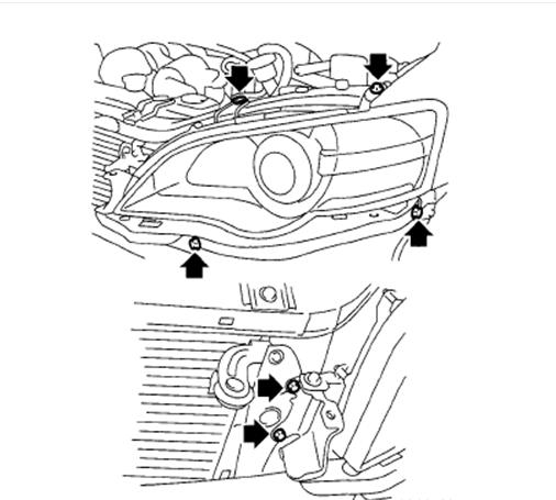 how do you remove and install a 2006 subaru outback ... 2006 subaru tribeca headlight diagram