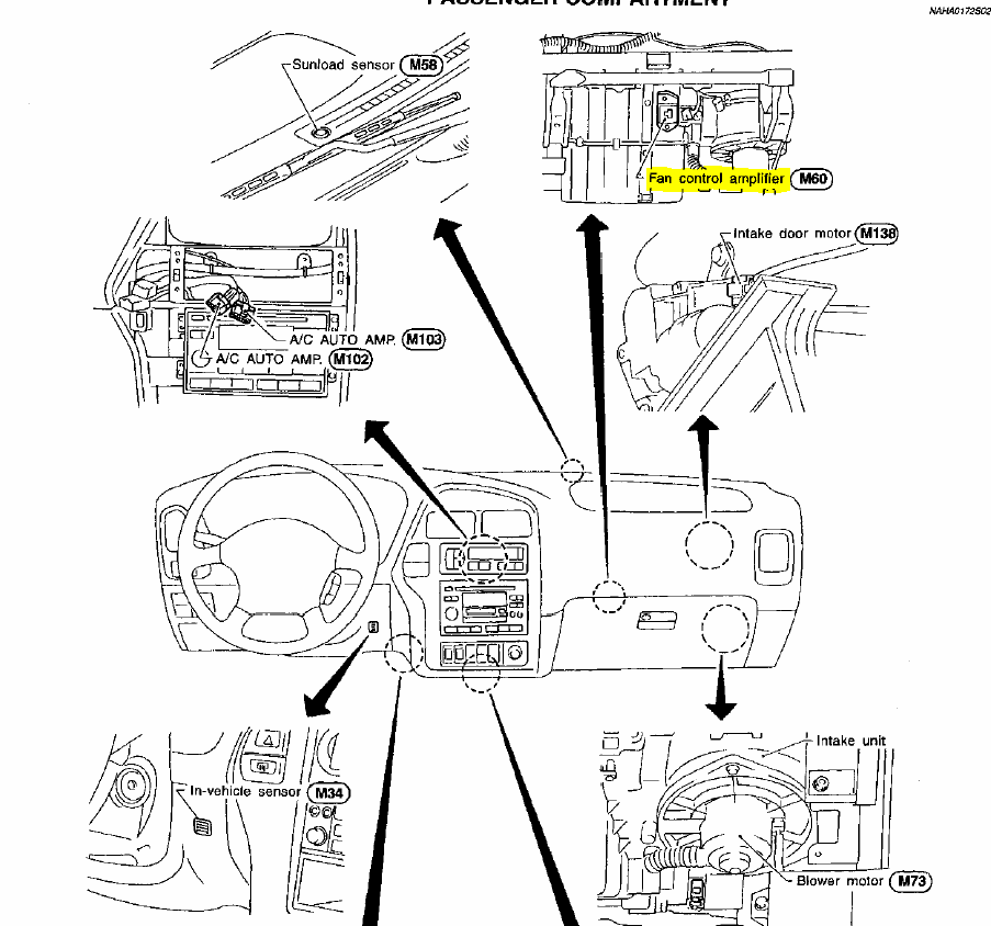 service manual  2008 nissan pathfinder blower motor