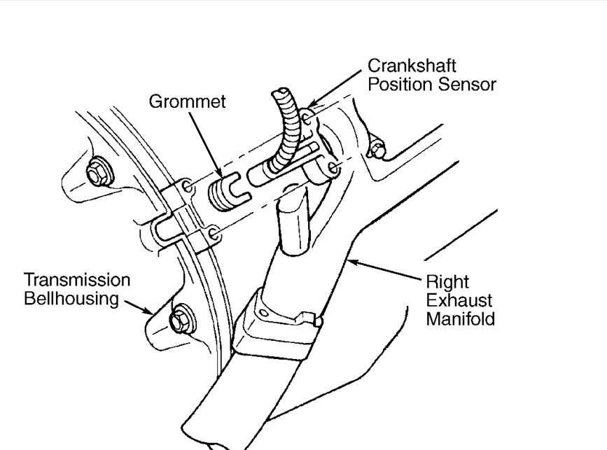 Where Is The Crank Position Sensor Located On A Dodge Durango 5 9l