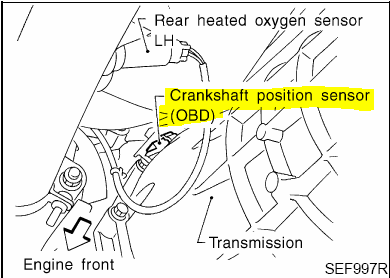 Where Is Located The Crankshaft Position Sensor In Nissan 2000. Wiring. Maxima Crankshaft Position Sensor Wiring Harness At Scoala.co