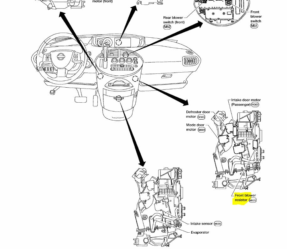 Nissan Quest Blower Motor Resistor Location