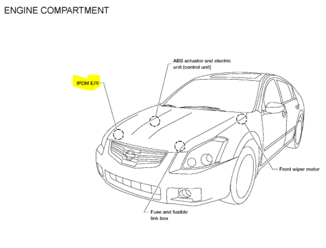 i have a 2008 nissan maxima with a front headlight issue