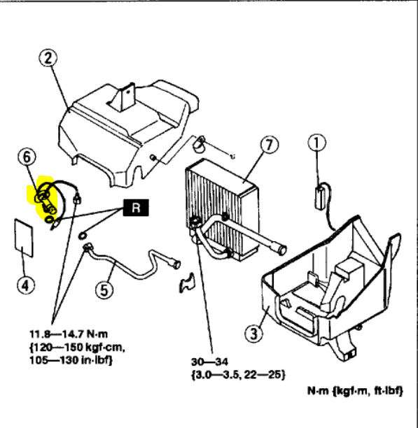 mazda 3 expansion valve location