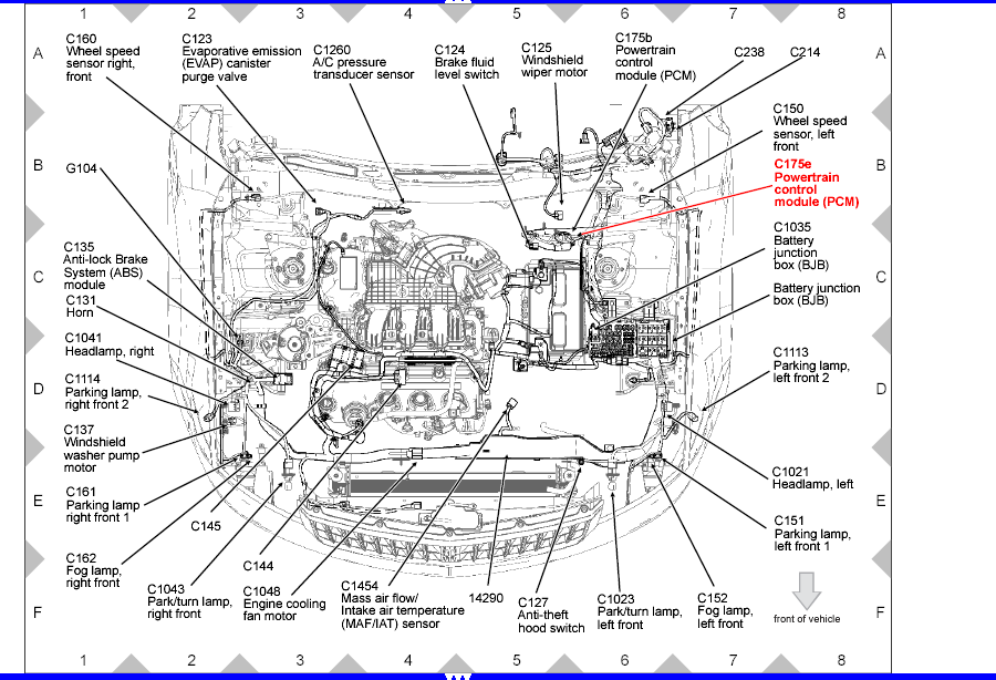 2010 ford fusion hybrid engine diagram