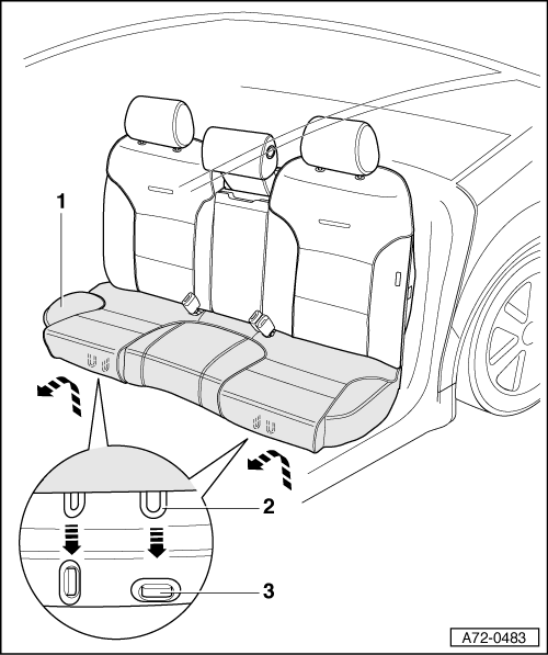 how do you remove the bottom rear seat cushion in a 2009