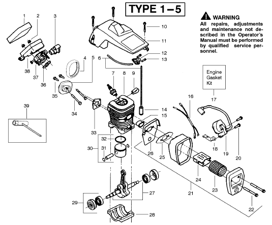 Mac 3200 Chain saw Manual