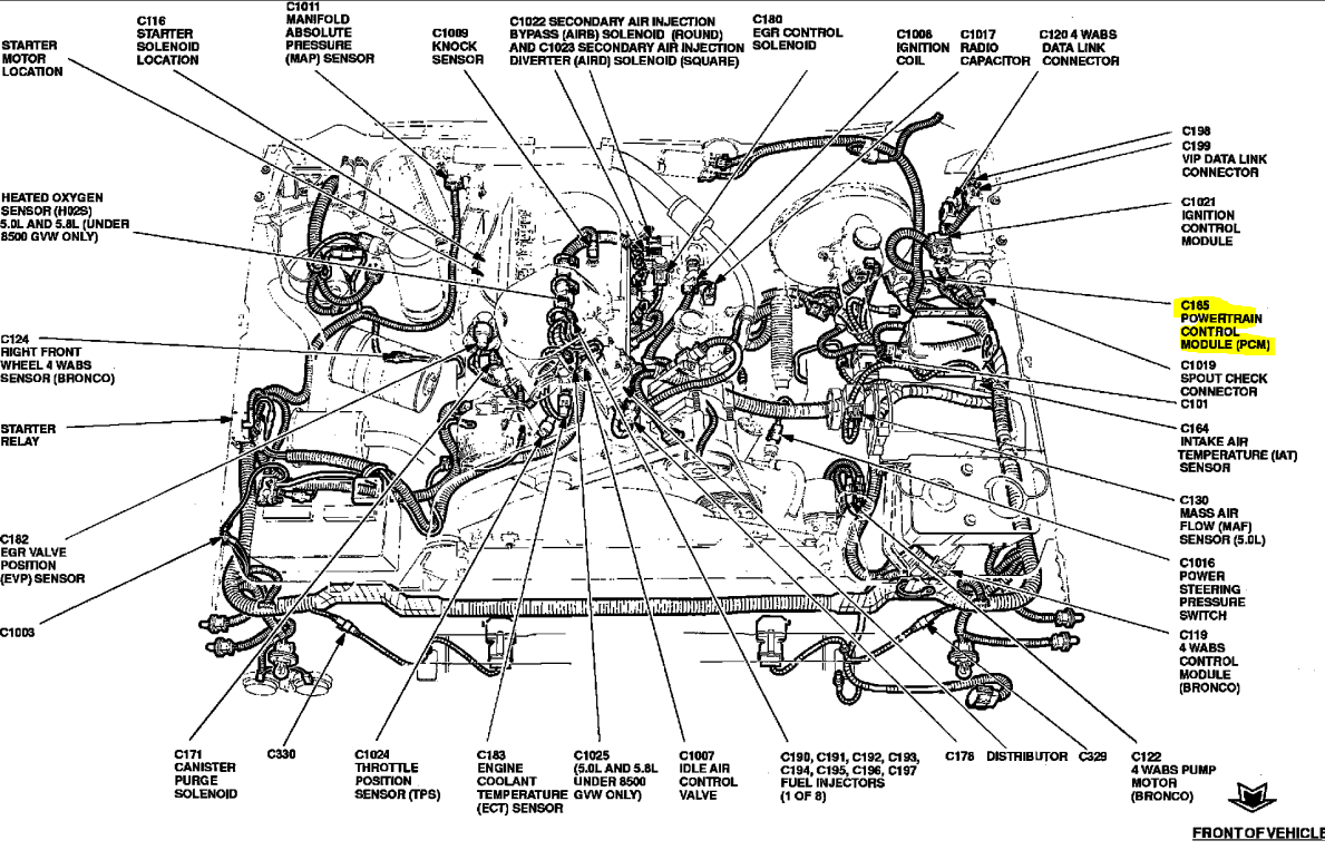 1994 Ford F150 Replaced The Distributor Cap Rotor Coilmy Truck F 150 4 6 Engine Diagram Graphic